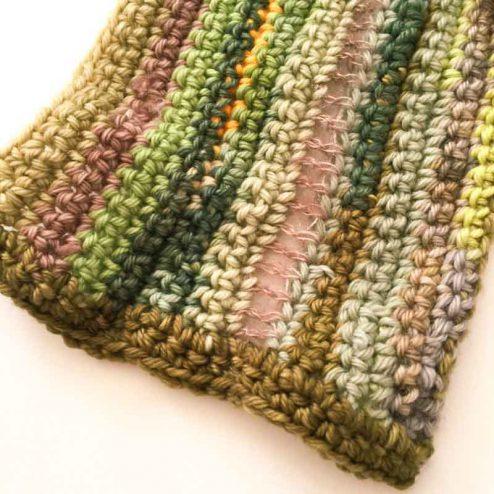 Crochet scarf from yarn scraps for men