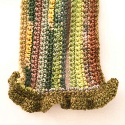 Scrap yarn crochet scarf for women