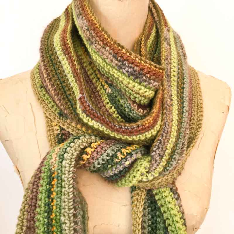 Pure wool crochet scarf free pattern