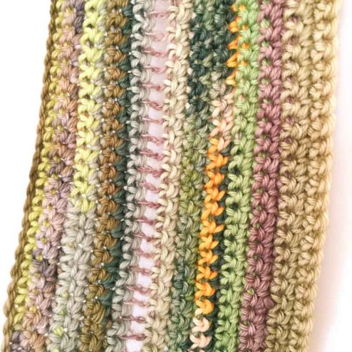 Crochet your wool scraps into a scarf