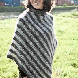 Cowgirlblues cape town free knit pattern soft stripe poncho wool mohair kidsilk shop