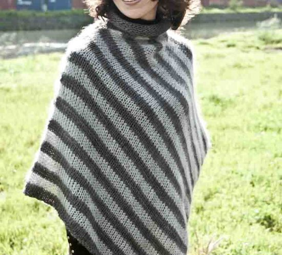 Cowgirlblues cape town free knit pattern soft stripe poncho wool mohair kidsilk shop