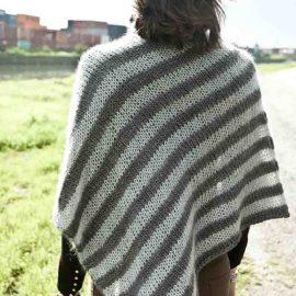 Cowgirlblues cape town free knit pattern soft stripe poncho wool mohair kidsilk