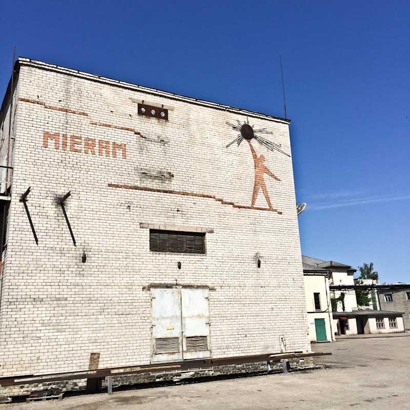 Kurzeme MHP Soviet brick mural