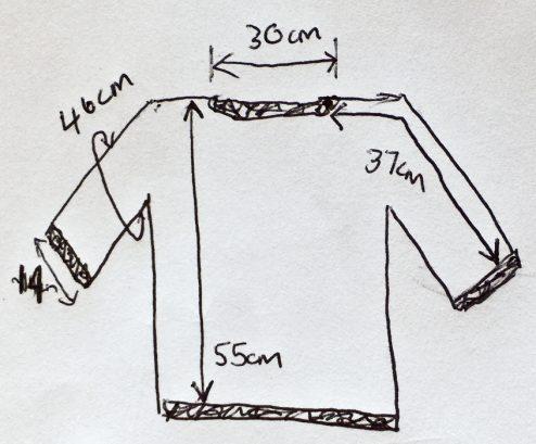 Geneva knit pattern sizing chart