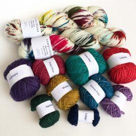 Merino Twist yarns for the I've got Sunshine Shawl knit Kit