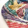 I've Got Sunshine striped knit shawl kit