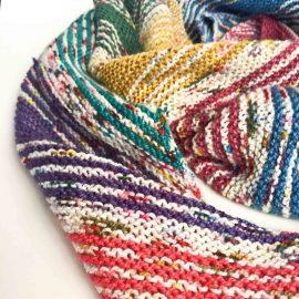 I've Got Sunshine striped knit shawl kit