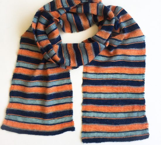 Stripe Away Scarf free knit pattern by Cowgirlblues