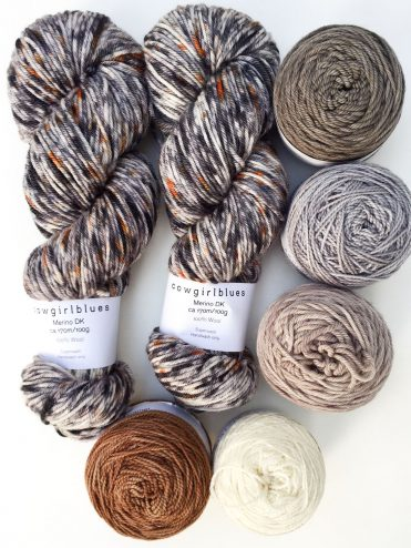 Cowgirlblues hand dyed merino wool in neutral colours