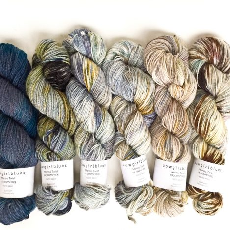 Cowgirlblues merino twist hand dyed wool