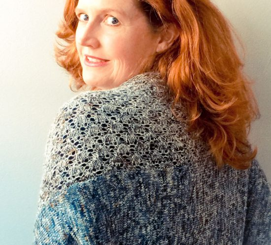 Cowgirlblues Merino Lace Fade hand dyed yarn knit cardigan