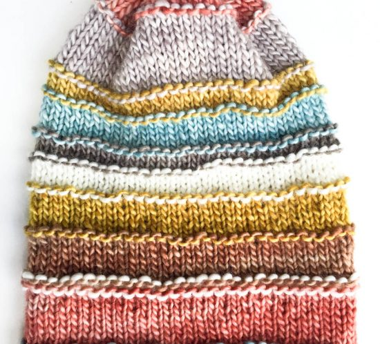 Free knit pattern for Waste Not Beanie by Cowgirlblues