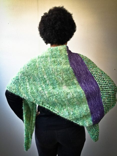 Good Karma Shawl knit kit back view