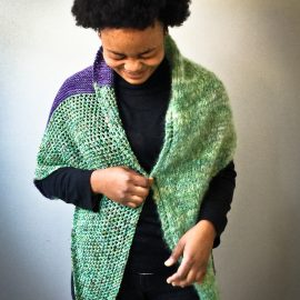 Good Karma Shawl knit kit by Cowgirlblues