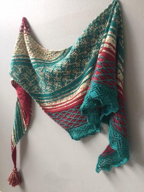 Sweet Dreams Shawl knit by Cowgirlblues