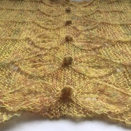 Fairy Leaves Wrap knit by Cowgirlblues