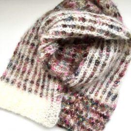 Big Brioche Knit Scarf by Cowgirlblues in Fluffy Mohair