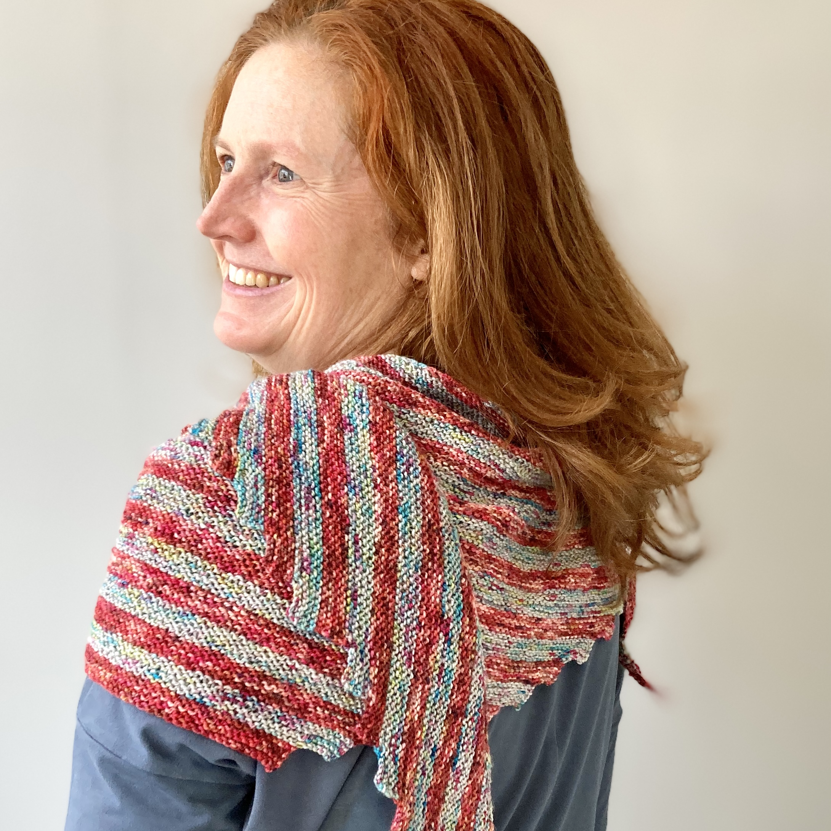 Hitchiker knit shawl by Cowgirlblues in Merino Twist