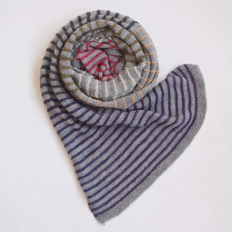 Stripe knit scarf pattern