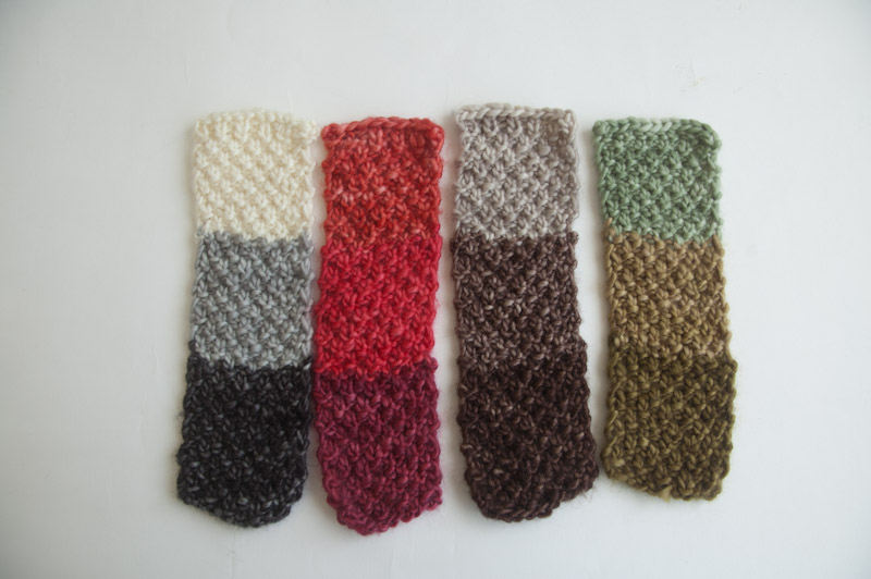 Pattern Double Moss Stitch Colour Blocked Scarf Cowgirlblues