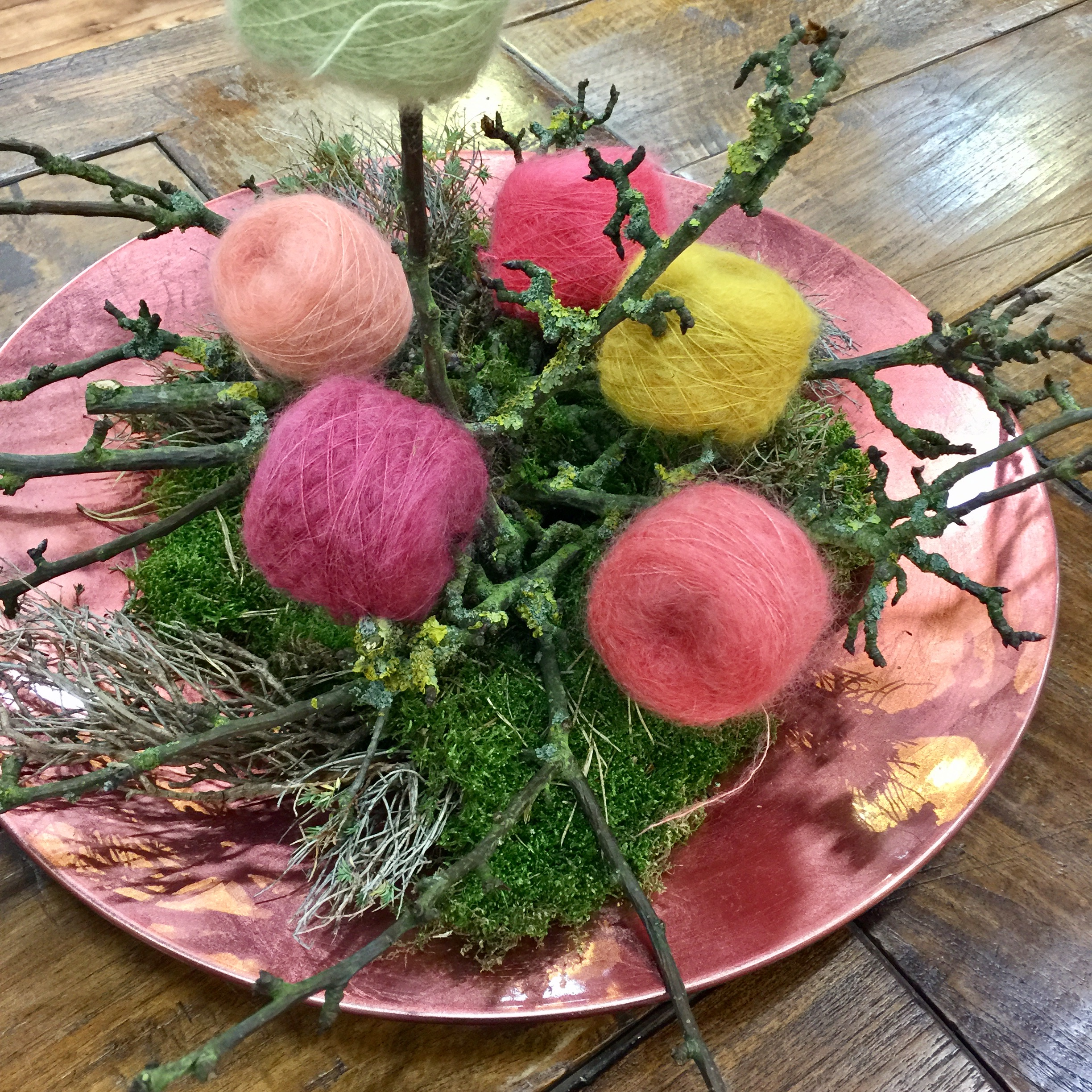 Mohair Flower arrangement