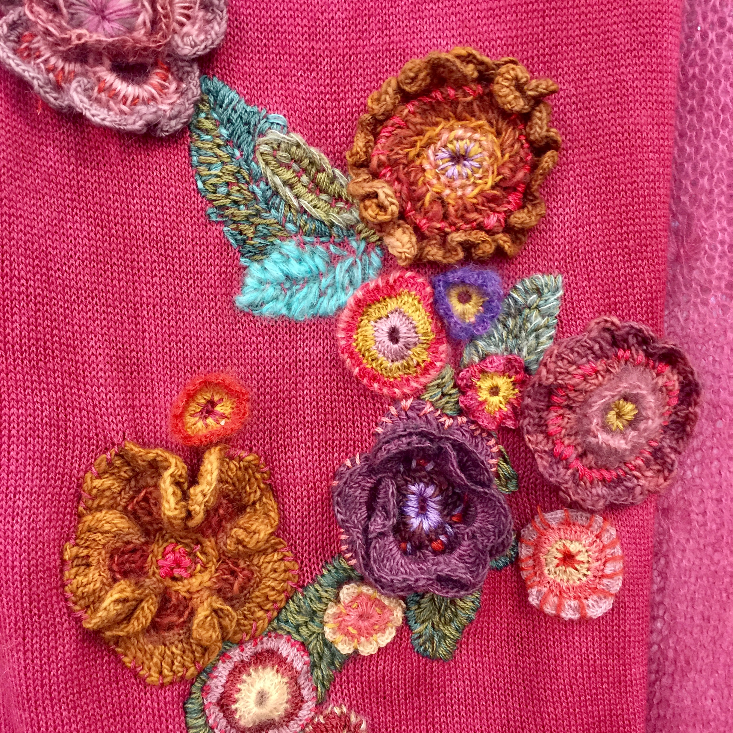 Floral handwork for Mohair South Africa