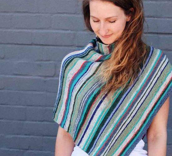 Cowgirlblues Garter stitch knit poncho free pattern