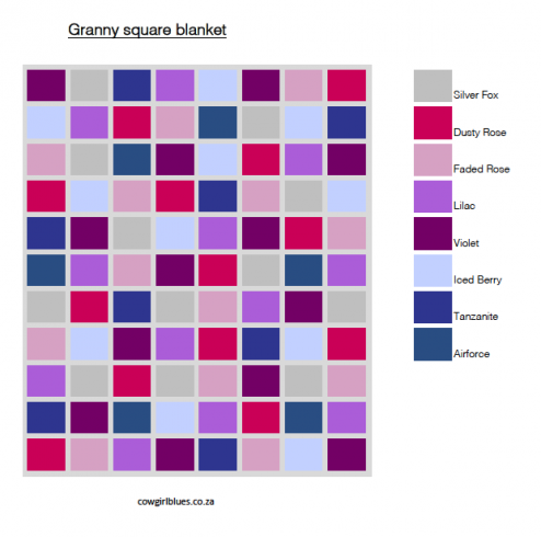 Granny square blanket sample