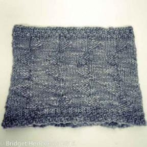 Handspun knit neckwarmer