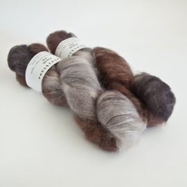 Kidsilk Skein - Charcoal-coffee Bean-Cocoa-Silver Fox