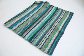 free poncho knit pattern in cowgirlblues Merino Sock yarn