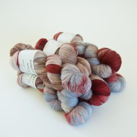Merino Lace Skein - Marsala:Sable:Cocoa:Denim