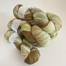 Merino Lace Skein - Olive-Heather-Spring-Sage