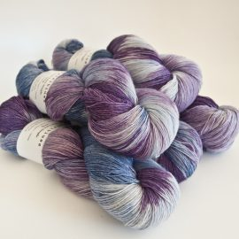 Merino Lace Skein - Violet:Lilac:Iced Berry:Tanzanite