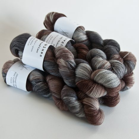 MohairWool Lace Charcoal-CoffeeBean-Cocoa-SilverFox