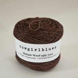 MohairWool Lace Coffee Bean
