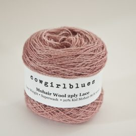 MohairWool Lace Faded Rose
