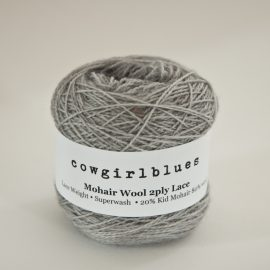 MohairWool Lace Silver Fox