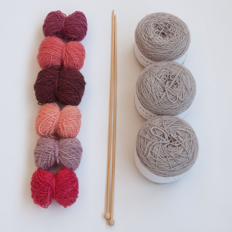 Perfect pinks knit kit