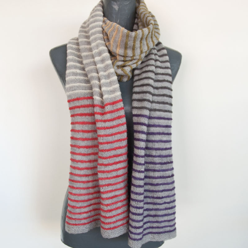 Pin-Stripe Knit Scarf