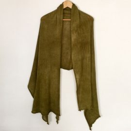 Plain-shawl-Olive-2