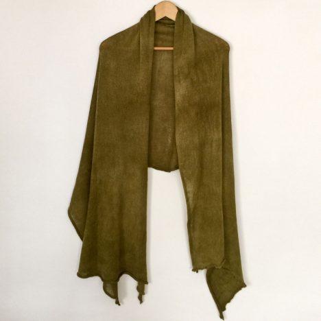 Plain-shawl-Olive-2