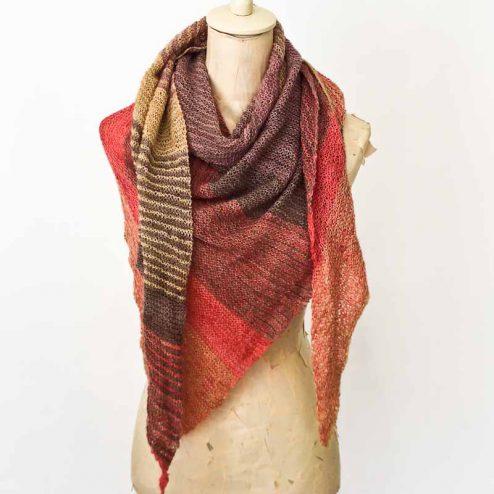 cowgirlblues free sideways shawl pattern in hand dyed merino wool