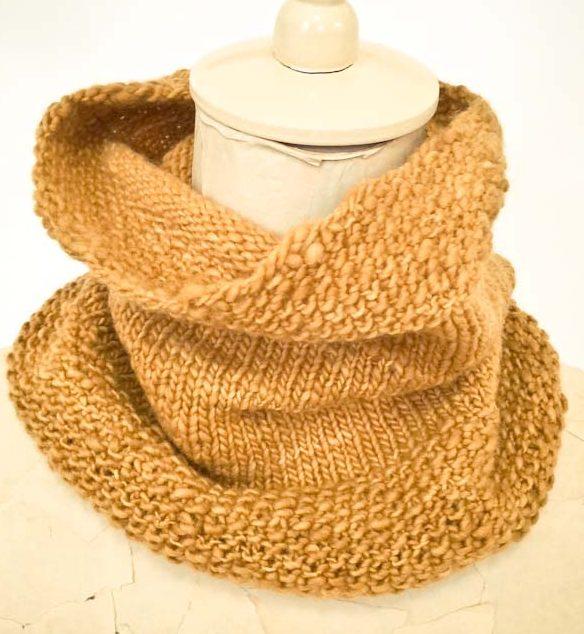 Cowgirlblues handspun merino wool knit neckwarmer in mustard
